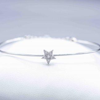 Bracciale in oro e diamanti forma stella