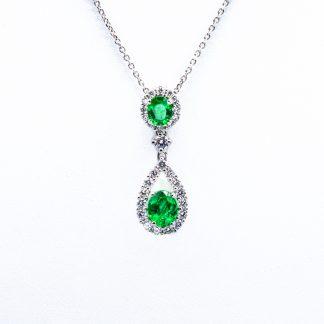 Ciondolo Giorgio Visconti diamanti smeraldi