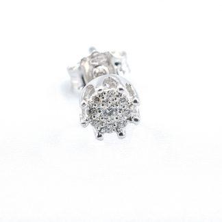 Orecchini di diamanti e oro corona