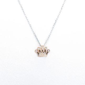 Collana in oro e diamanti corona