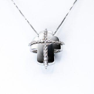 Collana Re Carlo diamanti oro croce