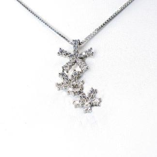 Collana Damiani diamanti oro stelle