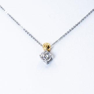 Collana Damiani diamante oro