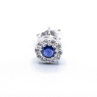 Orecchini di diamanti con zaffiro blu