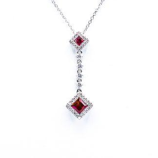 Ciondolo Giorgio Visconti diamanti rubini