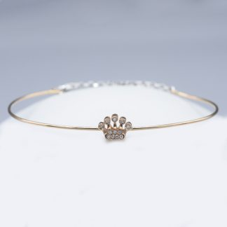 Bracciale in oro e diamanti forma corona