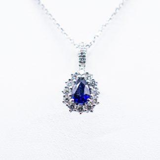 Ciondolo Giorgio Visconti diamanti zaffiro