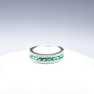 Anello Giorgio Visconti diamanti smeraldi