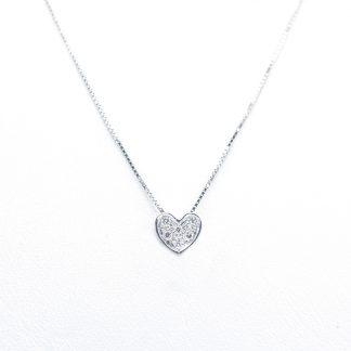 Collana in oro e diamanti cuore
