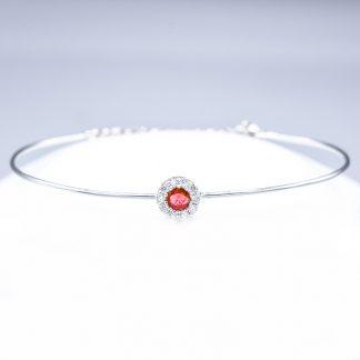 Bracciale con diamanti e rubino