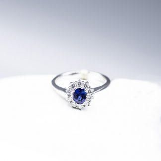 Anello Giorgio Visconti diamanti zaffiro