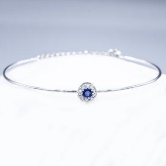 Bracciale con diamanti e zaffiro