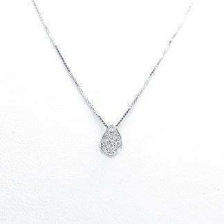 Collana in oro e diamanti goccia