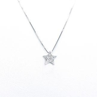 Collana in oro e diamanti stella